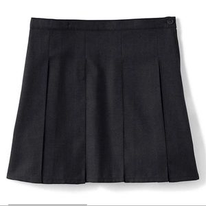 Lands' End School Uniform Solid Box Pleat Skirt